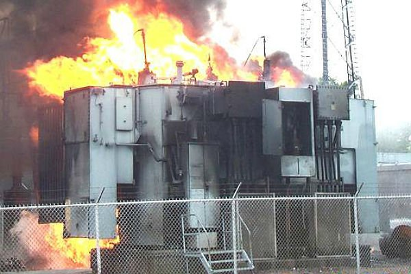 Сгоревший трансформатор