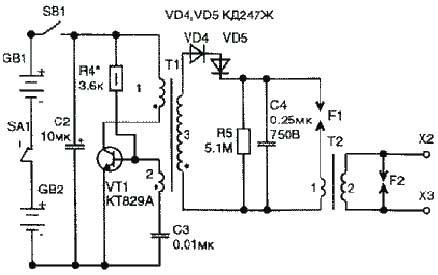 Трансформатор для эшу его схема
