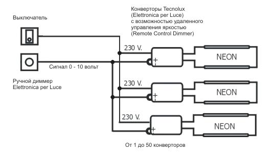 Схема диммеров подключения