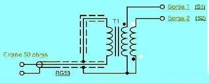 Антенна трансформатора схема