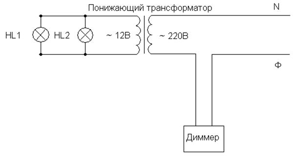 Схема диммеров