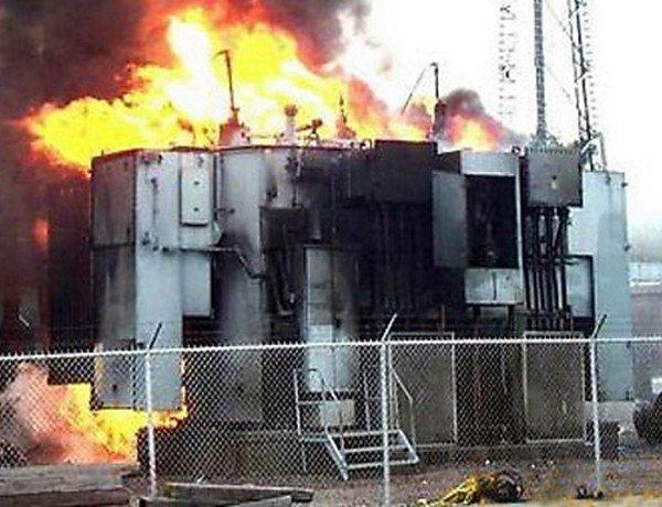 пожар трансформатора