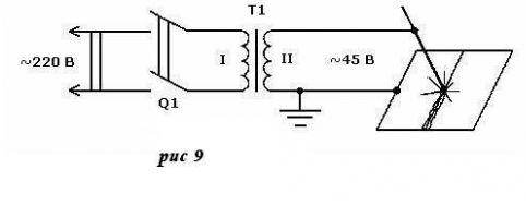 Схема трансформатора для сварки скруток