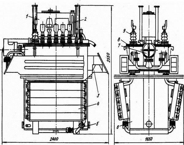 Схема тягового трансформатора