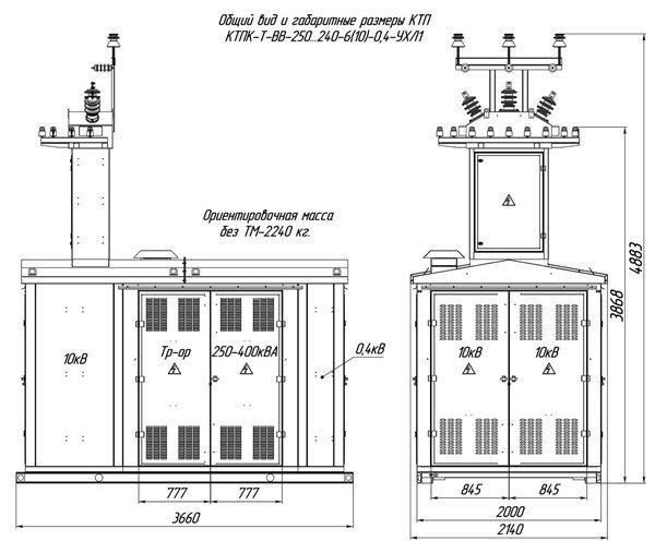 Схема трансформаторной подстанции