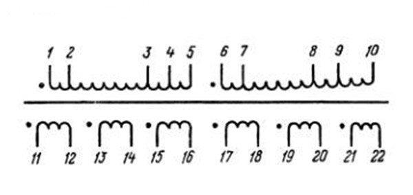 Электрическая принципиальная схема трансформатор та 220/50