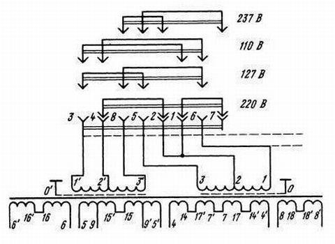 Электрическая схема тс-009