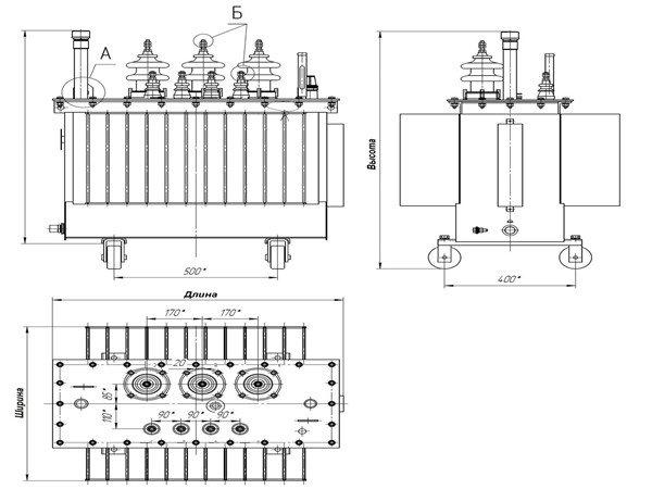 Схема трансформатора типа тмг