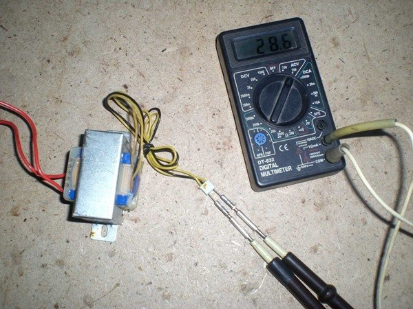 Трансформатор и амперметр