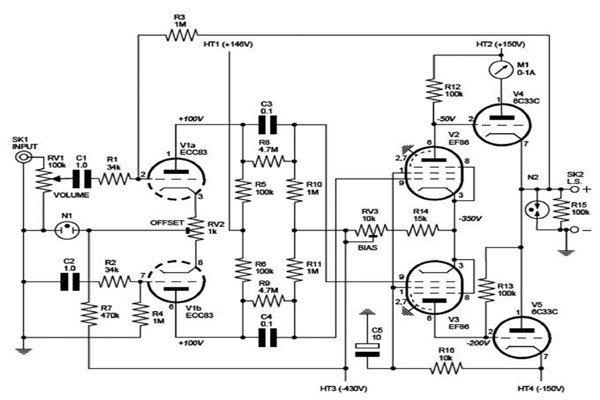 Схема для 25-ваттного усилителя