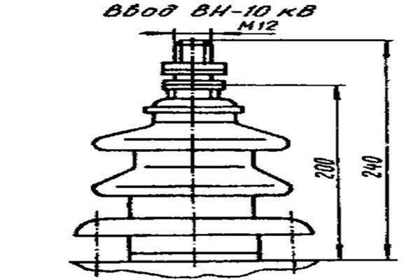 Конструкция ввода трансформатора