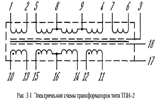 Схема трансформатора тпи-2