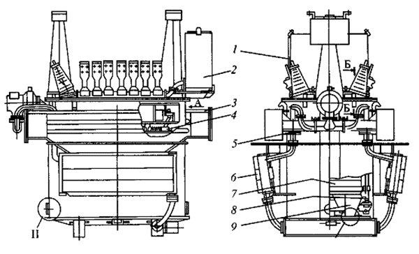 Устройство тягового трансформатора