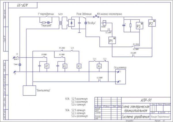 схема управления самодельный плазморезом