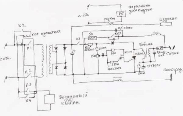 схема подключения плазмореза