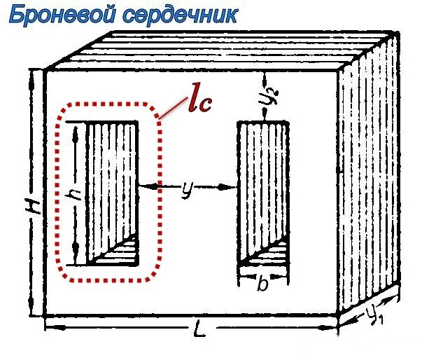 Броневой сердечник трансформатора