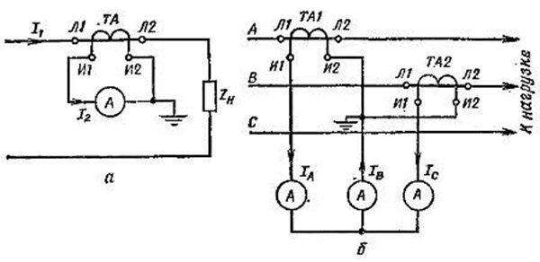 трансформатор тока схема включения
