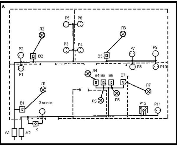 Схема энергосети