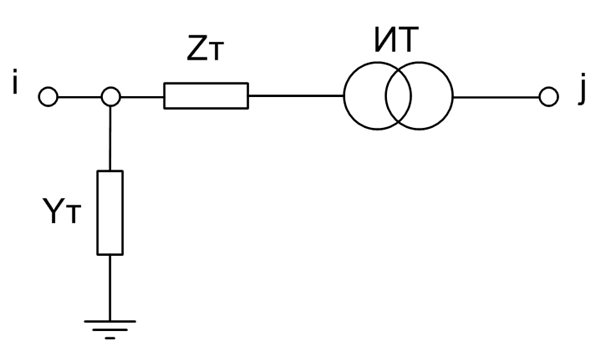 Схема двухобмоточного трансформатора