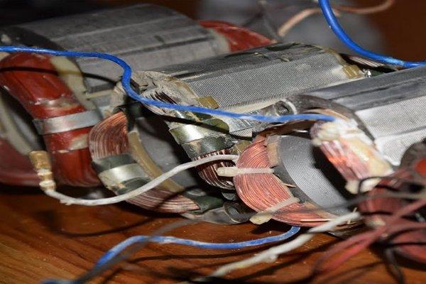 Ремонт обмотки статора электродвигателя