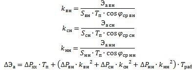 Формулы нахождения коэффициента