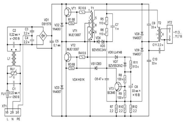 Электронные трансформаторы для галогенных ламп на 12 В