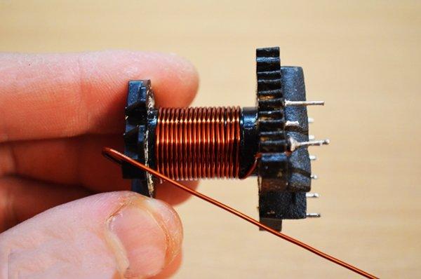Намотка первичной обмотки импульсного трансформатора