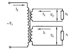 Cхема 3-х обмоточного трансформатора