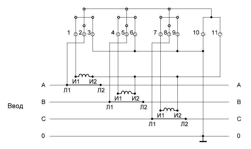 Схема подключения «звездой»