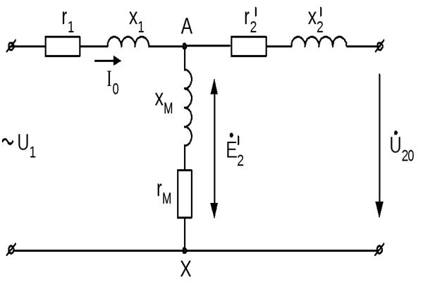 Схема замещения в режиме трансформатора