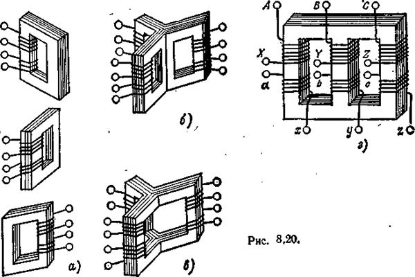 Особенности режима ХХ в трехфазном трансформаторе